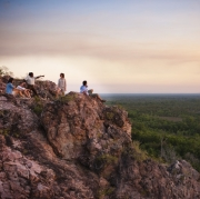 Tess Atie with group in Litchfield National Park
