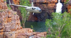 Helicopter tour return to Darwin