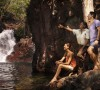 Aboriginal guide Tess Atie with visitors at Florence Falls in Litchfield National Park